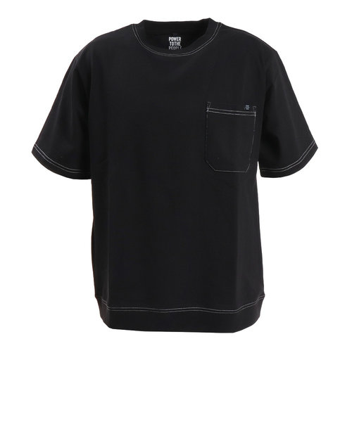 パワー・トゥ・ザ・ピープル(POWER TO THE PEOPLE)MOVING半袖トレーナーTシャツ 0512126-01 BLK
