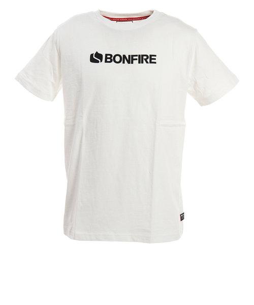 ボンファイア(Bonfire)Tシャツ ロゴ 半袖 50BNF0SCD2087 WHT