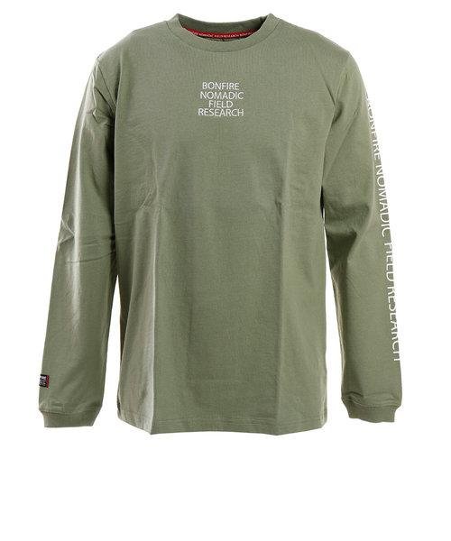 ボンファイア(Bonfire)Tシャツ メンズ 長袖 SLV 50BNG0SCD2092 OLV