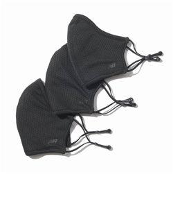 ニューバランス(new balance)マスク 速乾性 スポーツマスク エブリディ パフォーマンス 洗えるマスク 3枚セット ブラック LAO13098 BK