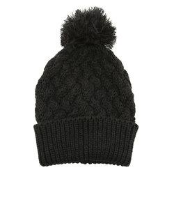 ポップコーンポンポン レディース ビーニー ニット帽 ヘッドウエア 5304-9 BLK