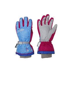 2016-2017 Snow Crystal Girls ジュニア スキーウエア ウインターグローブ 五本指 PS6H8GL92 LB ライトブルー スキー…