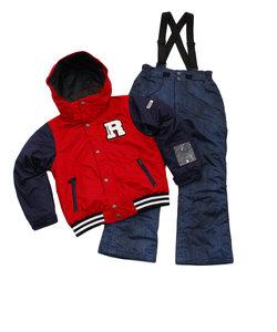 ジュニア スーツ RES78006 056 RD スキーウェア 上下セット