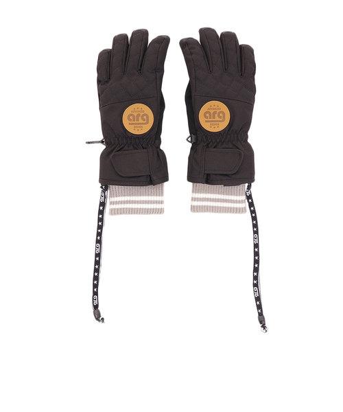 エーアールジー(arg)スノーボード グローブ レディース ソリッド 5指 ARG9024 BLACK