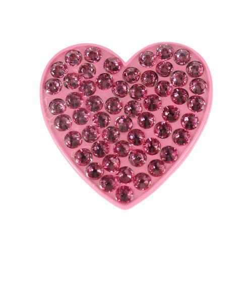 ゴルフ クリップマーカー Heart Pink