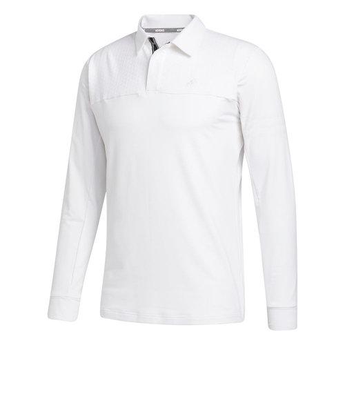 アディダス(adidas)ゴルフ ファブリックミックス 長袖シャツ INS62-FS6876W