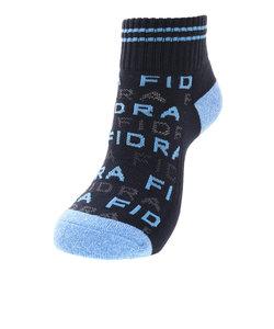 フィドラ(FIDRA)【衝撃価格】ショートソックス ロゴ柄 FD5HWF58 NVY-