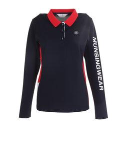 マンシングウエア(MUNSING WEAR)ENTRY長袖脇切り替えポロシャツ MGWQTB30-NV00