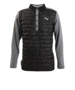 プーマ(PUMA)ゴルフウエア ポロシャツ メンズ 秋冬 ウォーム パデッドポロシャツ 930106-01