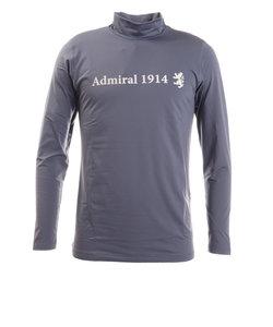 アドミラル(Admiral)ゴルフウエア ハイネック メンズ 秋冬 ロゴ ハイネックシャツ ADMA064-BGRY