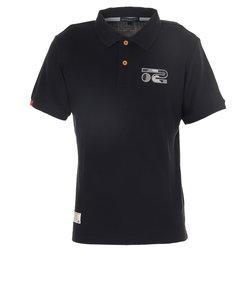 ROSASENワッフルパイル ストレッチ パッチワーク風ジャガードデザインシャツ 044-23841-098