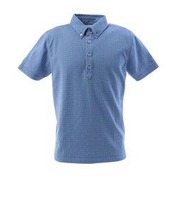 フィドラ(FIDRA)ゴルフ ポロシャツ メンズ チェックボタンダウンポロシャツ FI57TG97 BLU