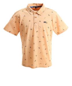 ROSASENポロシャツ ゴルフウェア メンズ リネンスラブポロサーフガラ 044-29447-035