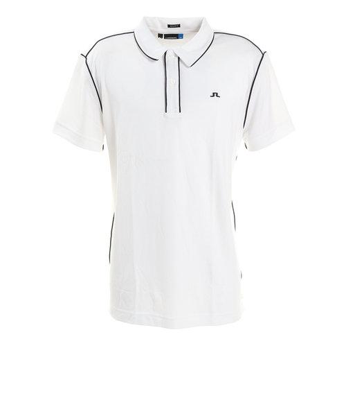 J.LINDEBERGゴルフウェア メンズ 半袖ポロシャツTOMIRegLUXPIQUE071-29340-004
