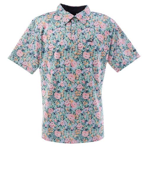 フィドラ(FIDRA)ゴルフ ポロシャツ フラワー 半袖ポロシャツ FI51TG06 PNK