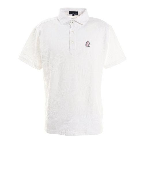 トランスコンチネンツ(TRANS CONTINENTS)ウェア メンズ リーフジャガワイドカラー 半袖ポロシャツ 19STRZ17-WH オンライン価格