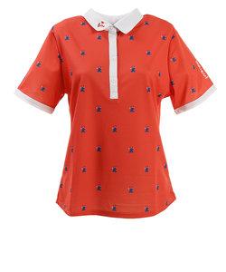 ビバハート(VIVA HEART)ゴルフウェア ポロシャツ レディース ピエロプリント 半袖シャツ 012-29543-038