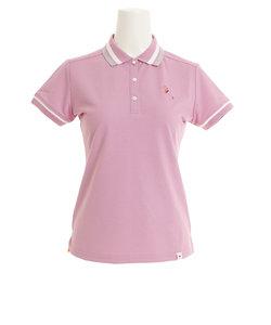 ジュンアンドロぺ(JUN&ROPE)ゴルフウェア ミリオンアイスフラミンゴ刺繍半袖ポロシャツ ERM29000-63