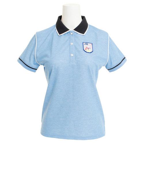 ジュンアンドロぺ(JUN&ROPE)ゴルフウェア レディース パイピング使いポロシャツ ERM29050-48
