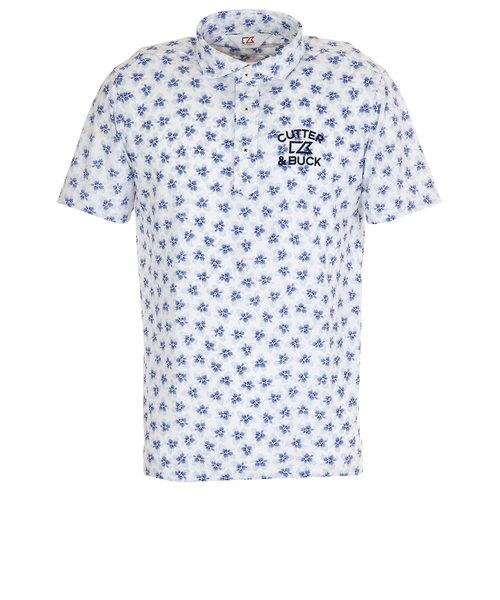 カッターアンドバック(CUTTER&BUCK)サクラプリント カラーシャツ CGMPJA24-BL00