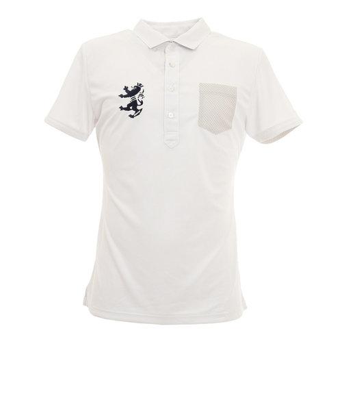 アドミラル(Admiral)パーツチェック ワイドカラー半袖ポロシャツ ADMA032-WHT