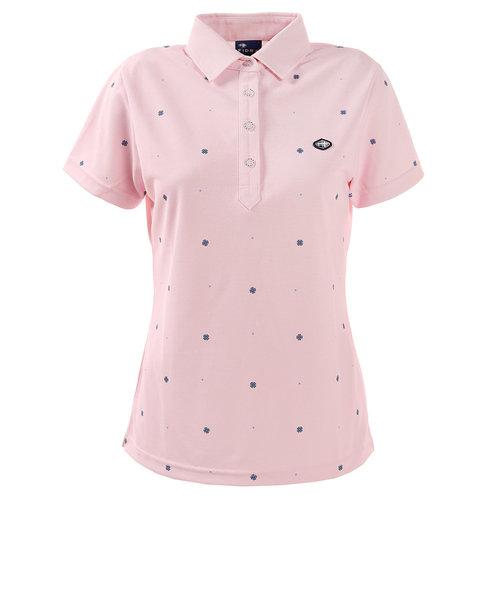フィドラ(FIDRA)ゴルフ ポロシャツ レディース 小紋プリントポロ E20 FD5HUG60 PNK