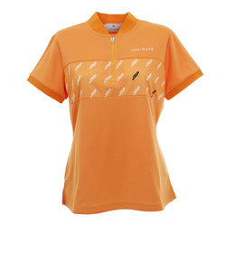ジュンアンドロぺ(JUN&ROPE)モノグラム柄プリント切替半袖ポロシャツ ERM30060-70