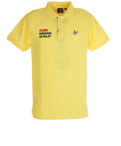 クランク(CLUNK)ワッフルロゴポロシャツ E20 CL5HTG61 YEL