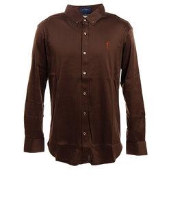 フィドラ(FIDRA)ゴルフ シャツ メンズ GIZAフライスボタンダウンシャツ FV38VG01 BRN