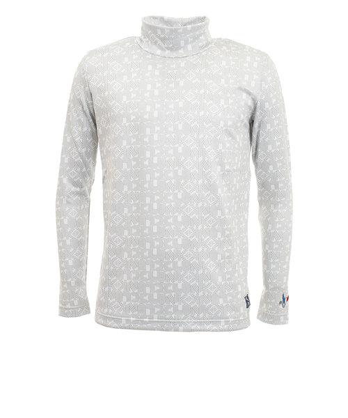 クランク(CLUNK)ゴルフウエア ハイネック メンズ 秋冬 ヒートクロス モックネックシャツ CL38TB05 WHT
