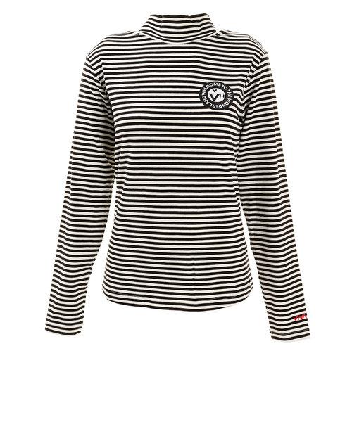 ビバハート(VIVA HEART)ゴルフウエア レディース ボーダーハイネックシャツ 012-31012-019