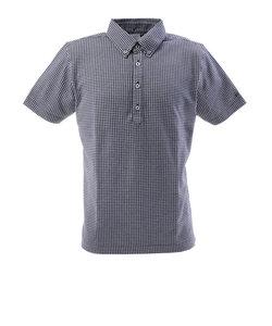フィドラ(FIDRA)ゴルフウェア メンズ チェックボタンダウンポロシャツ FI57TG97 NVY