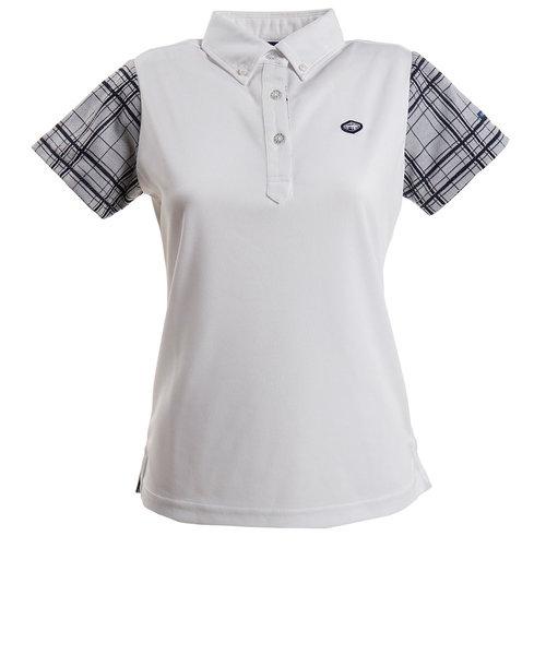 フィドラ(FIDRA)ゴルフウェア レディース チェックポロシャツ FI51UG02 WHT