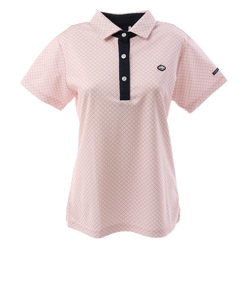 フィドラ(FIDRA)ゴルフ ポロシャツ ミニフラワー 半袖ポロシャツ FI51UG09 PNK