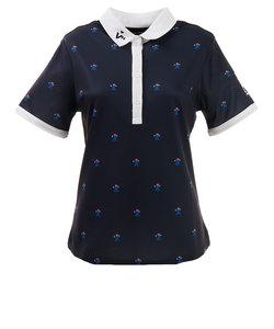 ビバハート(VIVA HEART)ゴルフウェア ポロシャツ レディース ピエロプリント 半袖シャツ 012-29543-098