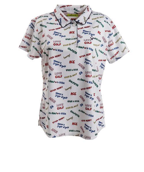 ビバハート(VIVA HEART)ゴルフウェア ポロシャツ レディース CandyBackMesh半袖ポロ 012-29546-004