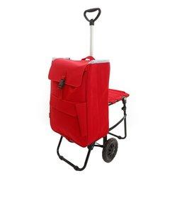 ショッピングカート バッグ 椅子付 15-5012 RED