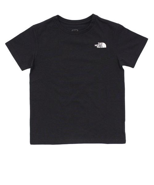 ショートスリーブ スクエアロゴTシャツ NTJ81827 K