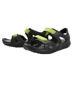 クロックス(crocs)サンダル キッズ プール Swiftw River K Bk 204988-09W ブラック 黒