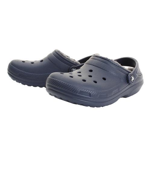 クロックス(crocs)サンダル クラシック ラインド クロッグ (Classic Fuzz-Lined Clog) Nvy 203591-459