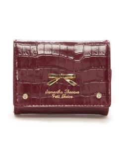 ★クロコシンプルリボン ミニ財布