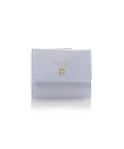 ★フラワーモチーフシリーズがま口折財布