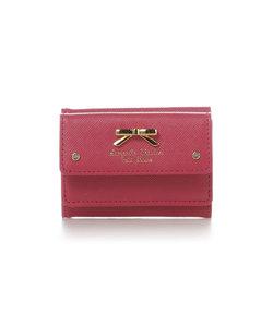 シンプルリボンプレートミニ財布