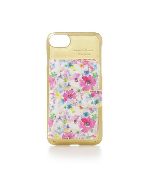 327debfe114d 花柄ミラー付着せ替えケースiPhone6‐8 | Samantha Thavasa Petit ...