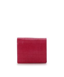 クロコ型押し折財布(BOX型コインケース)