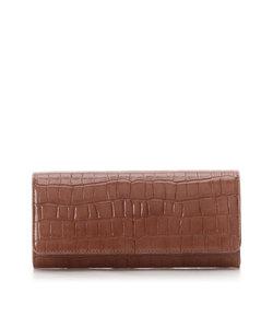 クロコ型押し長財布