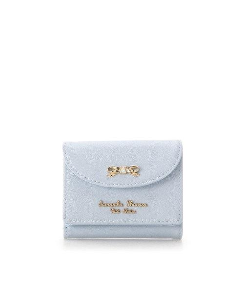 パールエナメル 折財布