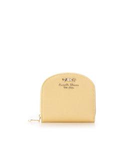 パールエナメル ラウンドジップ折財布
