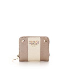 バイカラービジュー 折財布