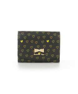 ハートプリント折財布